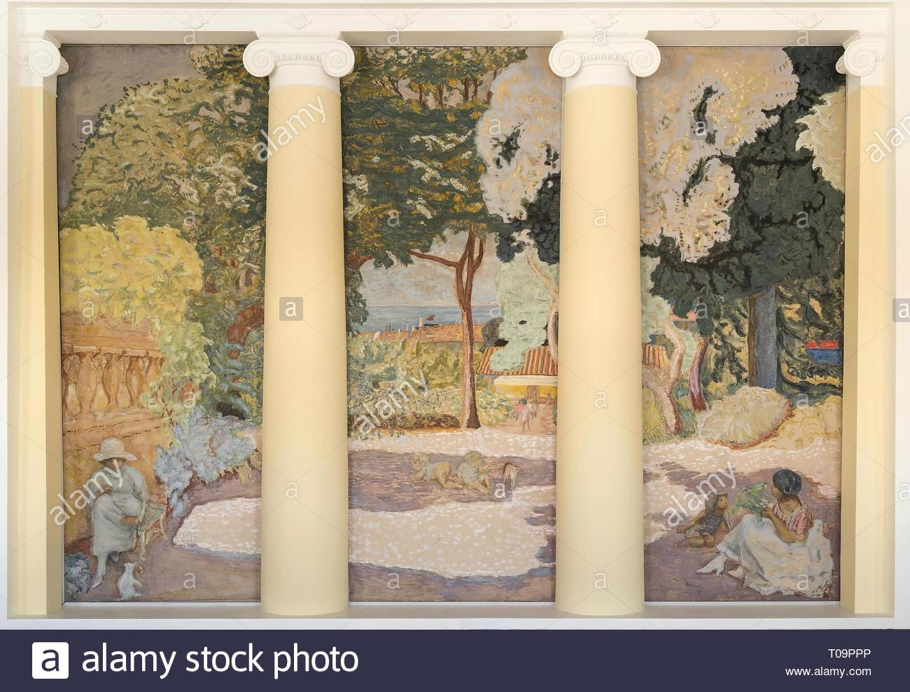 'The Mediterranean. Triptych (central panel)'. France, 1911. Dimensions: 407x152 cm. Museum: State Hermitage, St. Petersburg. Author: PIERRE BONNARD. - Stock Image