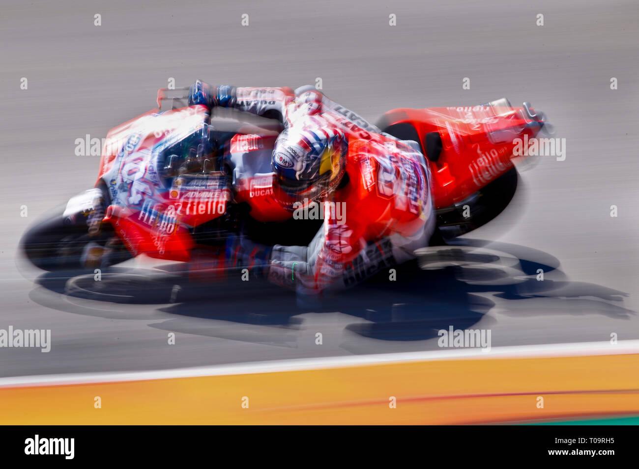 Andrea Dovizioso (ITA) of Ducati Team, MotoGP World Championship 2018, Pramac Motorrad Grand Prix Deutschland, Sachsenring, Germany on July 14th 2018 - Stock Image