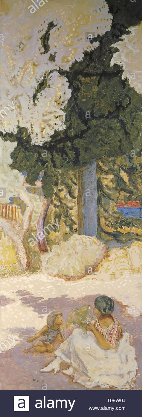 'The Mediterranean. Triptych (right panel)'. France, 1911. Dimensions: 407x152 cm. Museum: State Hermitage, St. Petersburg. Author: PIERRE BONNARD. - Stock Image
