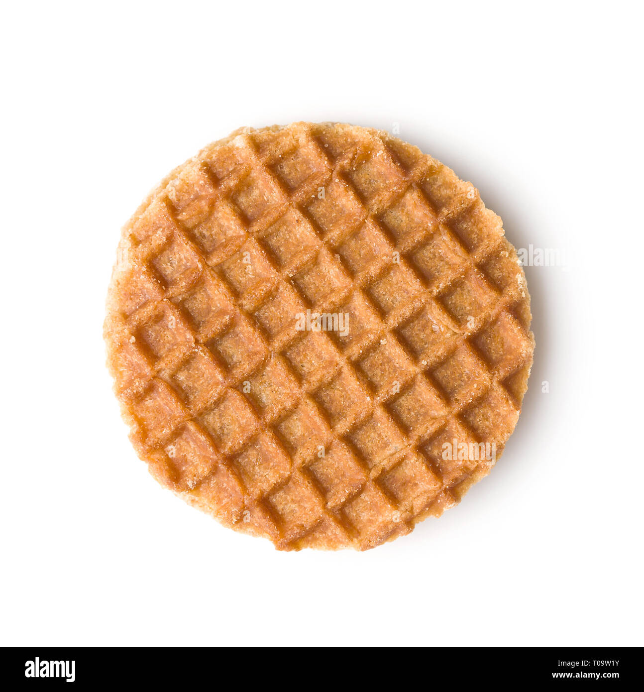 Sweet Waffle Biscuits Isolated On White Background Dutch Waffles With Caramel Stock Photo Alamy