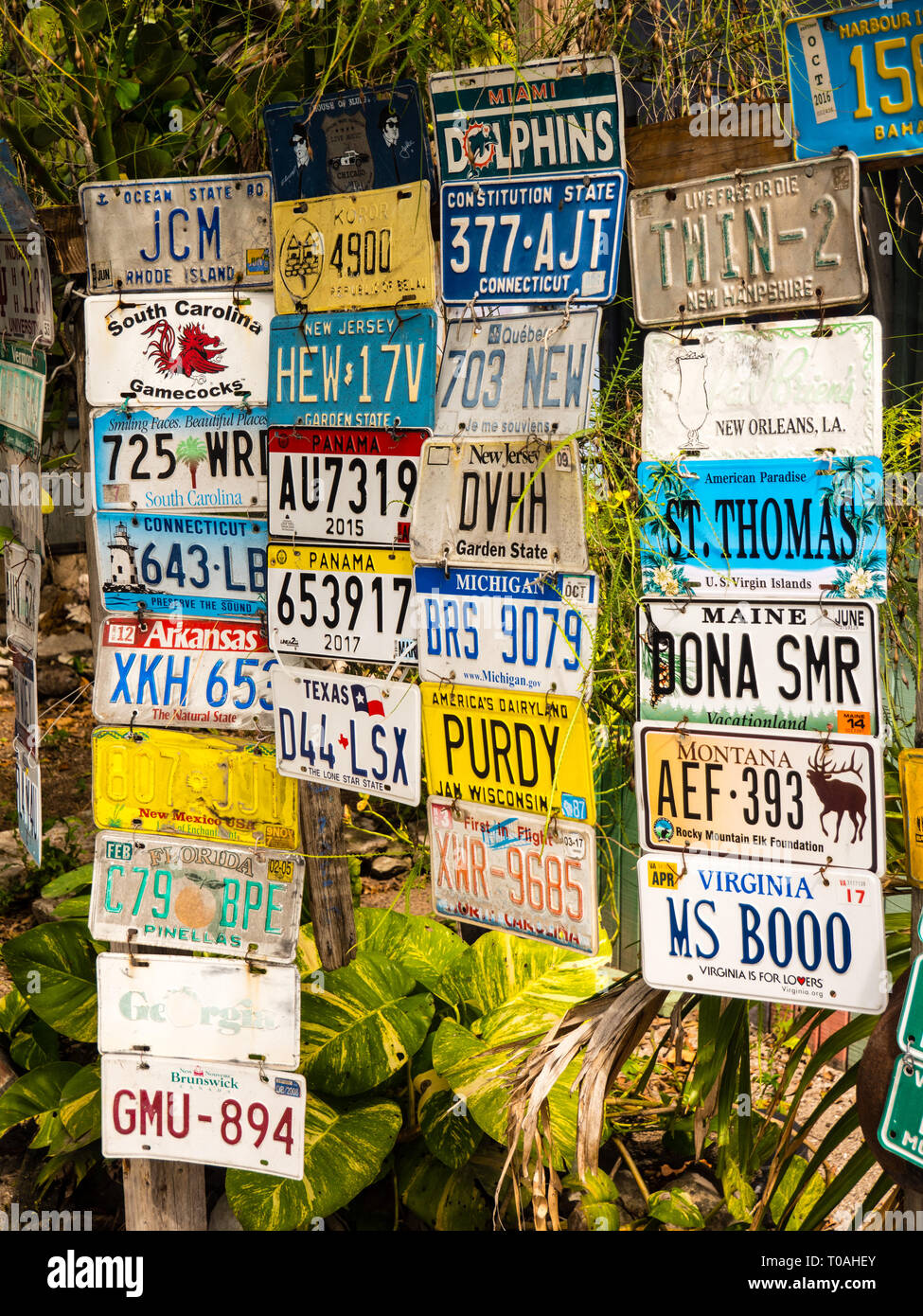 Terrie Fast and Last Stop Take Away, Dunmore Town, Harbour Island, The Bahamas, The Caribbean. - Stock Image