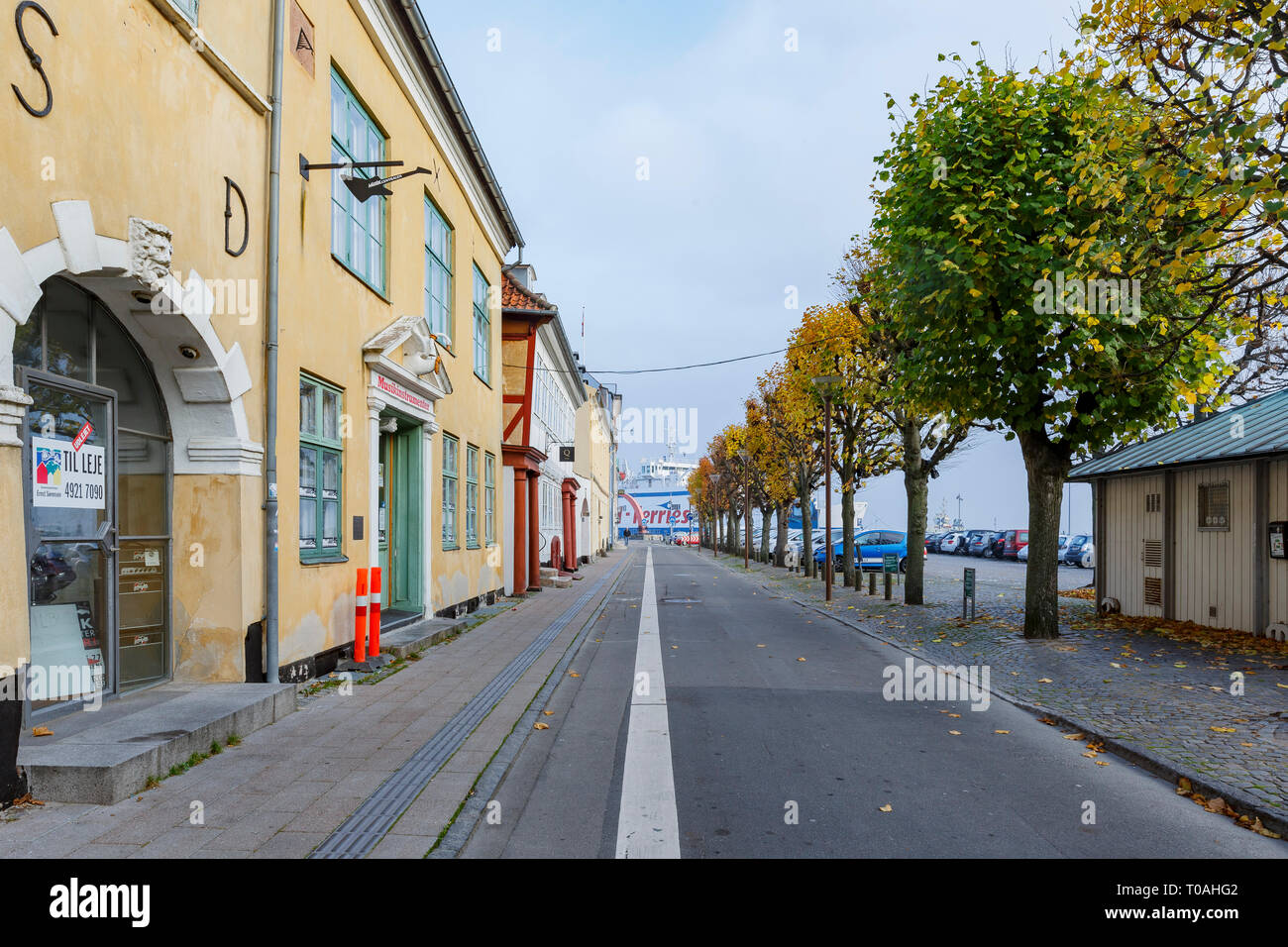 Municipality, NOV 1: Beautiful cityscape around Elsinore on NOV 1, 2015 at Municipality, Denmark - Stock Image