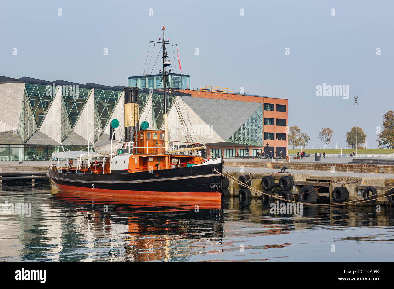 Denmark, NOV 1: Exterior view of the Culture Yard with a ship on NOV 1, 2015 at Denmark - Stock Image