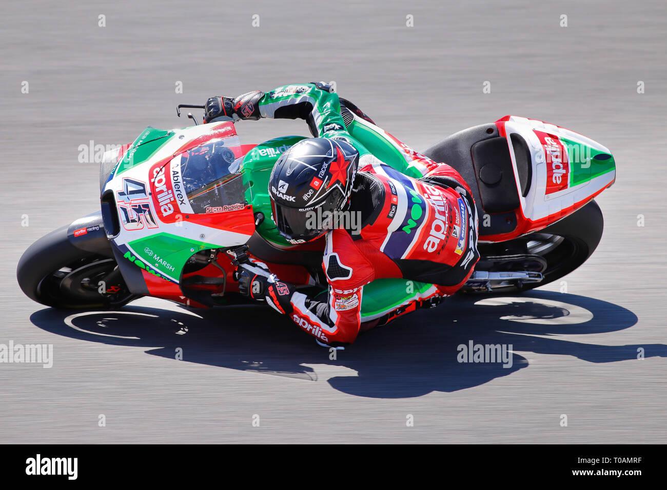 Scott Redding (GBR) of Aprilia Racing Team Gresini, MotoGP World Championship 2018, Pramac Motorrad Grand Prix Deutschland, Sachsenring, 14.07.2018 - Stock Image