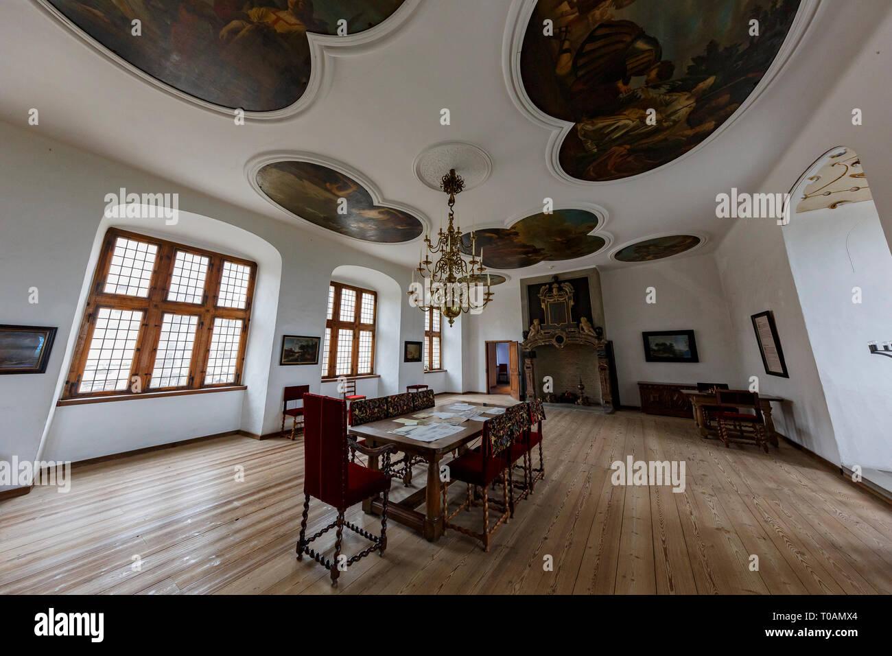 Denmark, NOV 1: Interior view of the famous Kronborg Castle on NOV 1, 2015 at Denmark - Stock Image