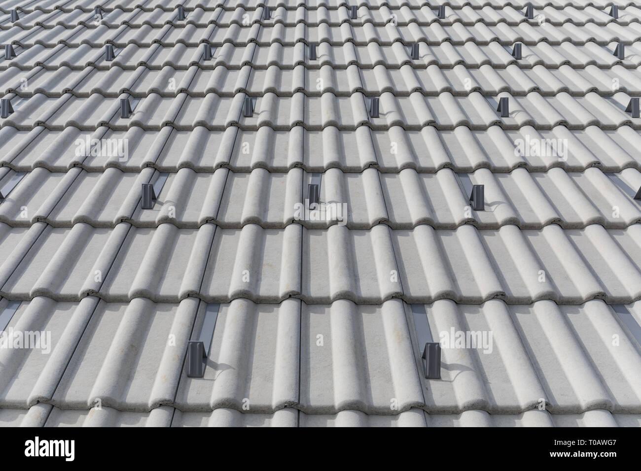 Concrete Roof Tiles Stock Photos Amp Concrete Roof Tiles