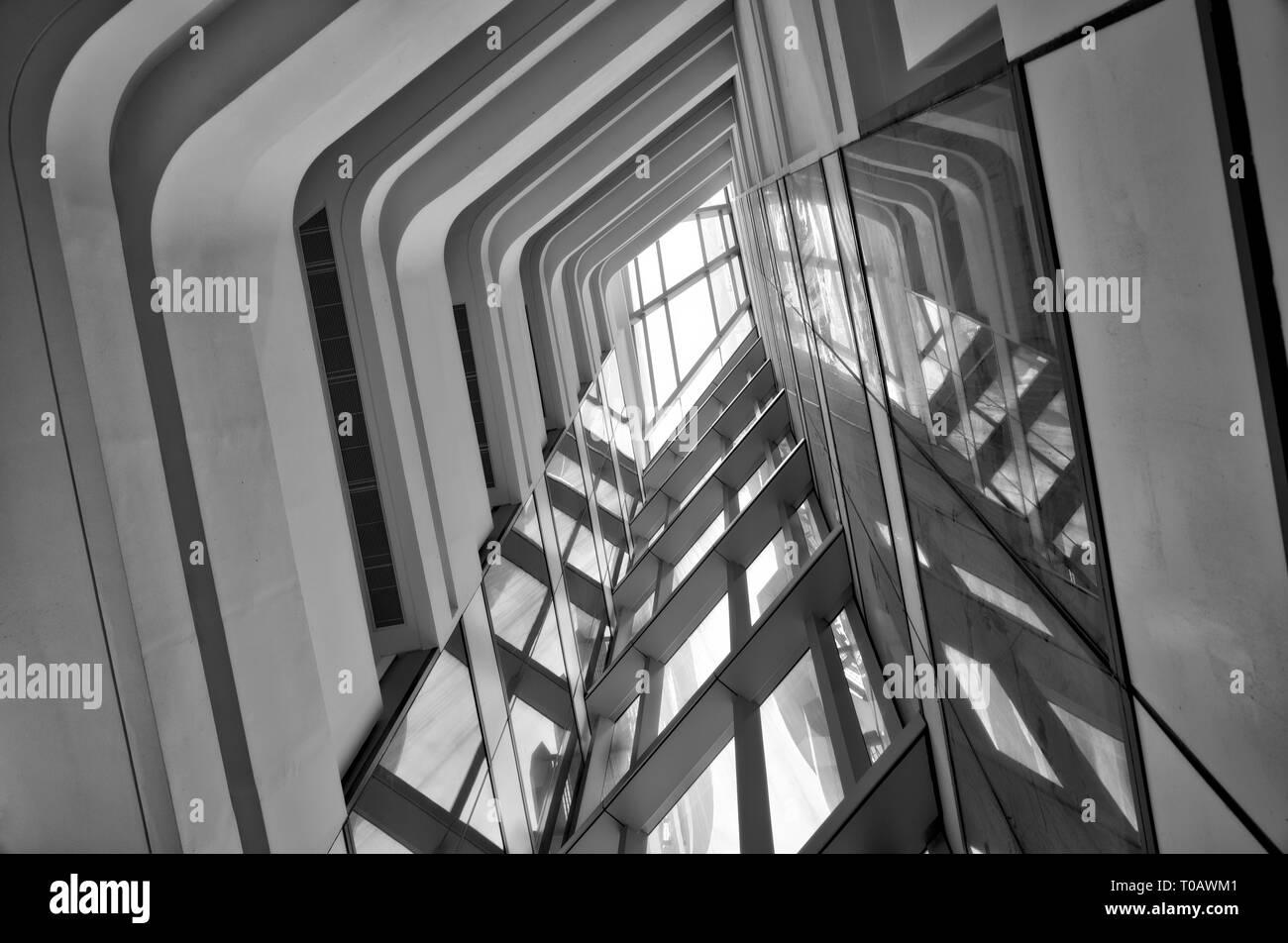 Hong Kong - building interior Stock Photo