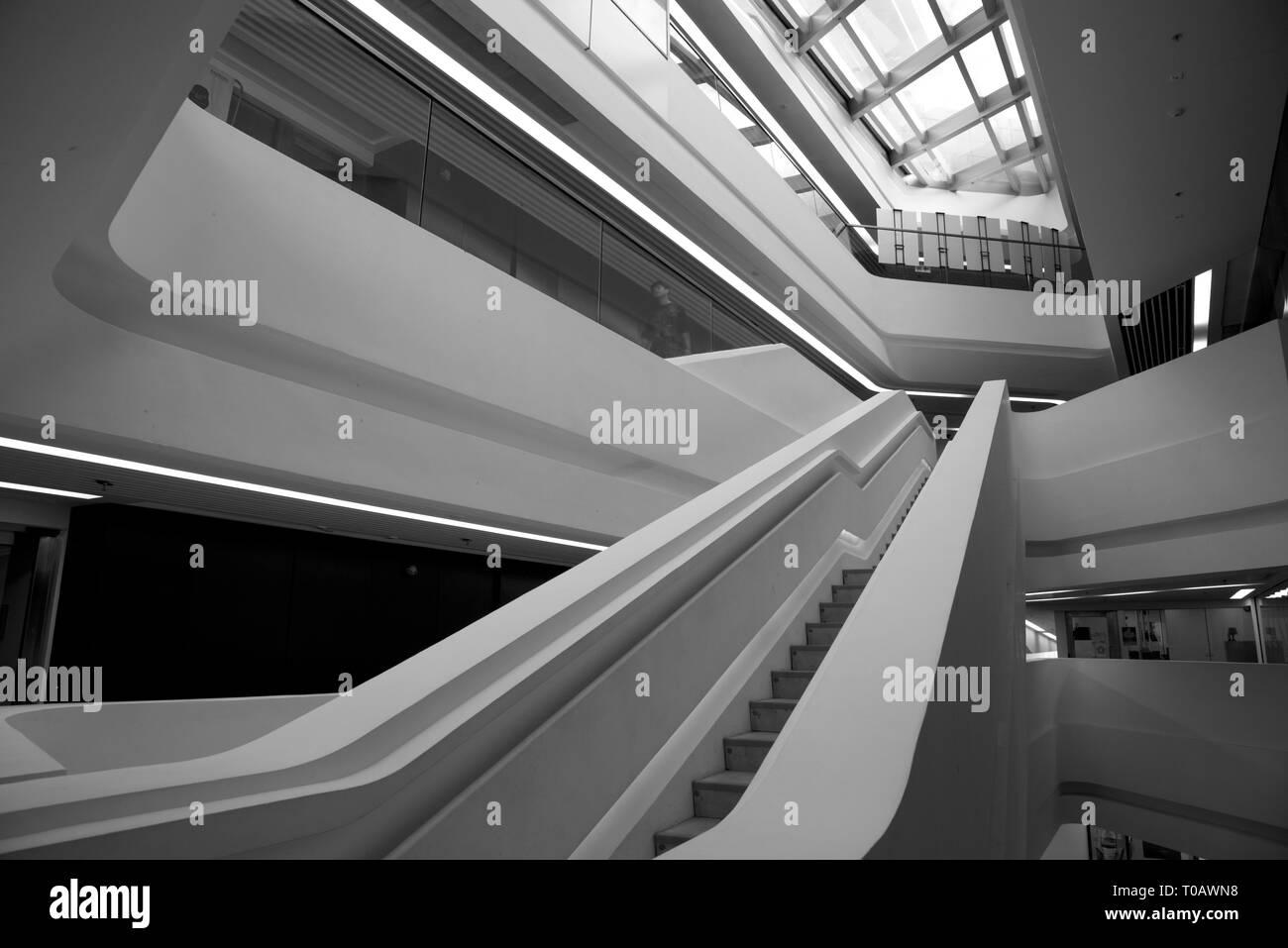 The Hong Kong Polytechnic University - Hong Kong - building interior Stock Photo