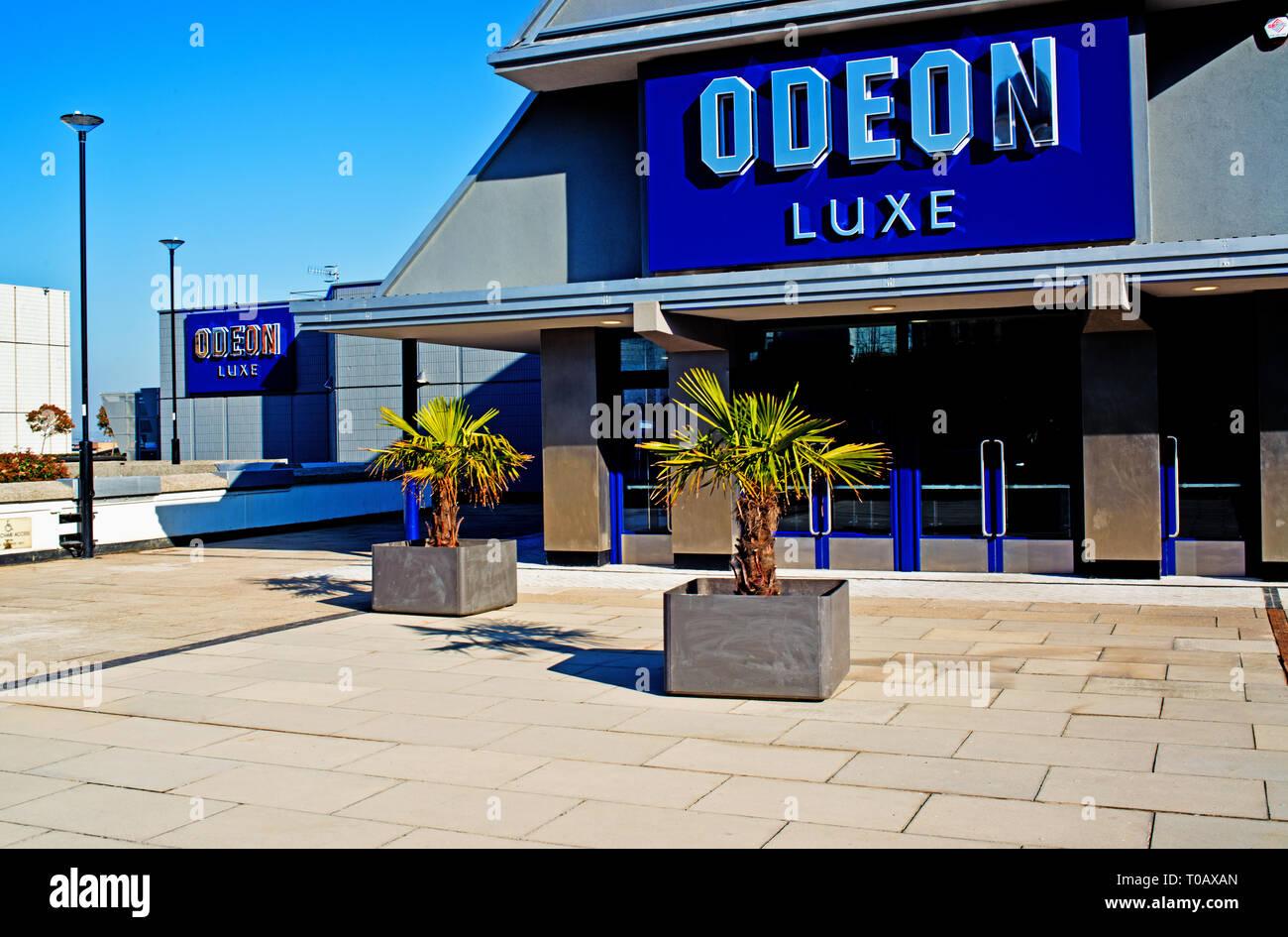 Sheffield,Odeon Luxe Cinema,  England - Stock Image