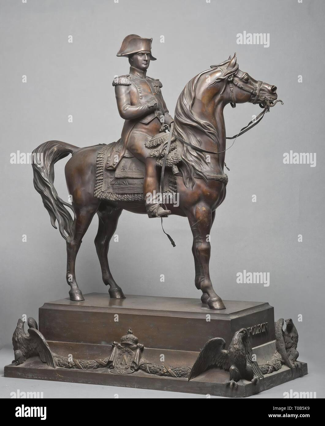 'Equestrian Statue of Napoleon I'. Russia, 1846. Dimensions: 82x62 cm. Museum: State Hermitage, St. Petersburg. Author: Alfred D'Orsay. - Stock Image