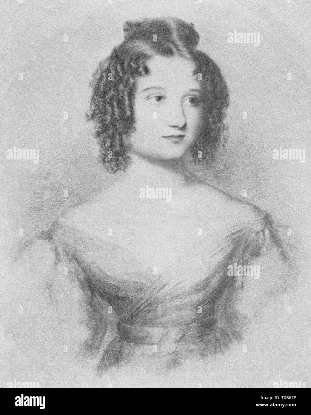 Ada Byron Lovelace, aged seventeen (1832) - Stock Image