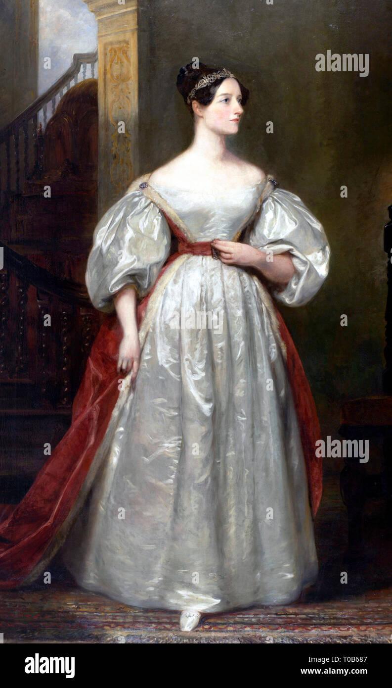 Portrait of Ada Lovelace (1815-1852), daughter of Lord George Gordon Byron - Margaret Sarah Carpenter - Stock Image