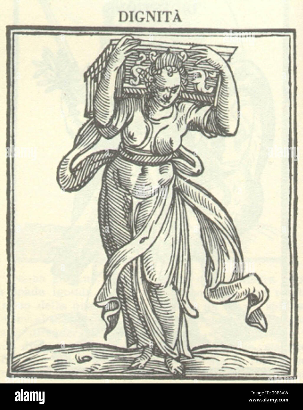 Woodcut From Cesare Ripa S Iconologia Depicting The Allegory Of