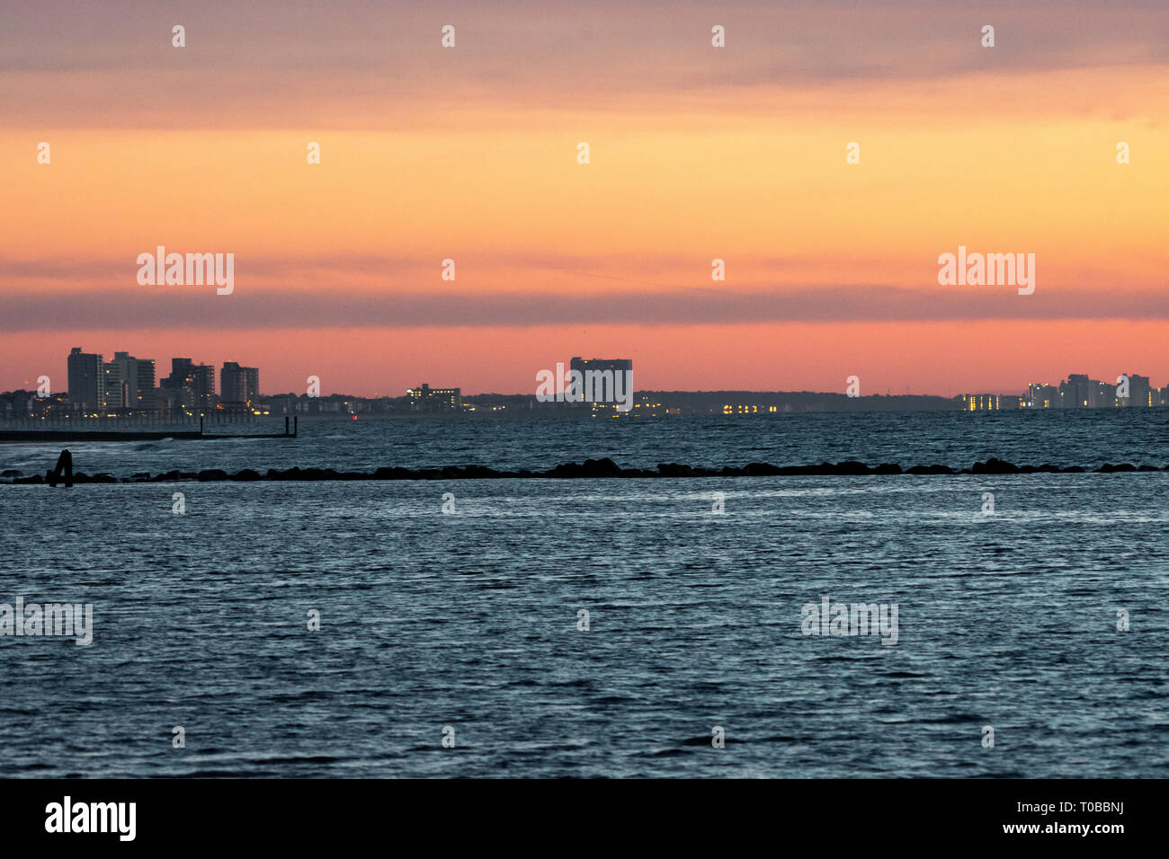 Sunrise over Garden City South Carolina, USA - Stock Image
