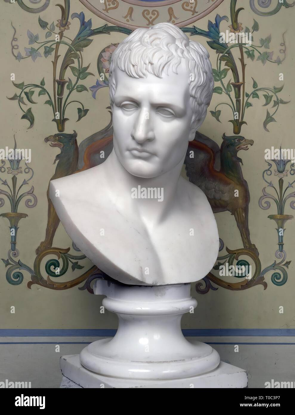 'Portrait of Napoleone Buonaparte (1769-1821)'. Italy, Between 1802 and 1822. Dimensions: heught: 76,0 cm. Museum: State Hermitage, St. Petersburg. Stock Photo