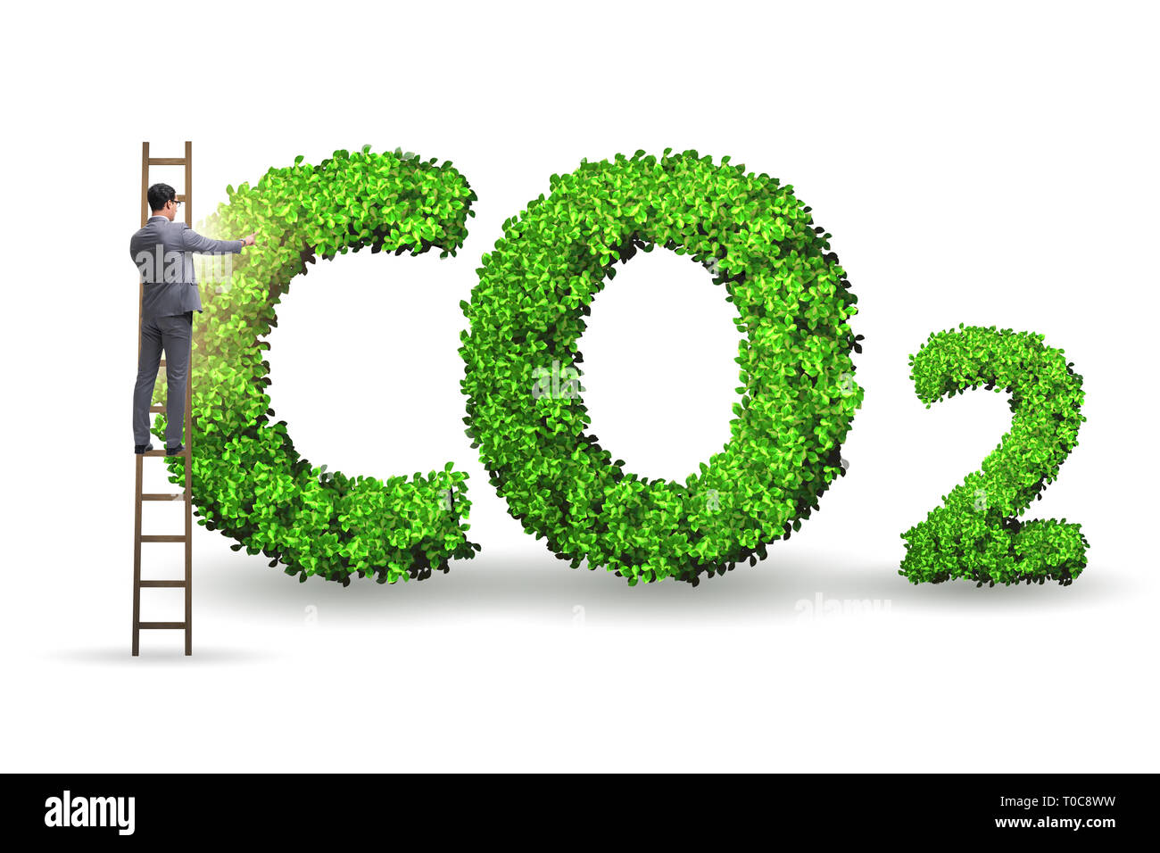 Ecological concept of greenhouse gas emissions - Stock Image