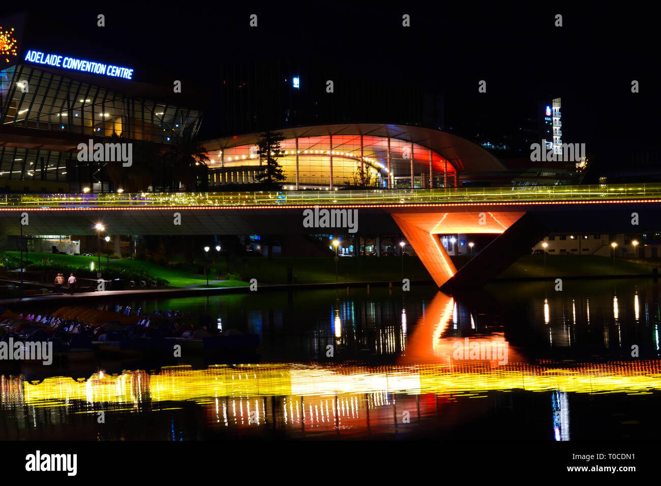 Adelaide by night Stock Photo