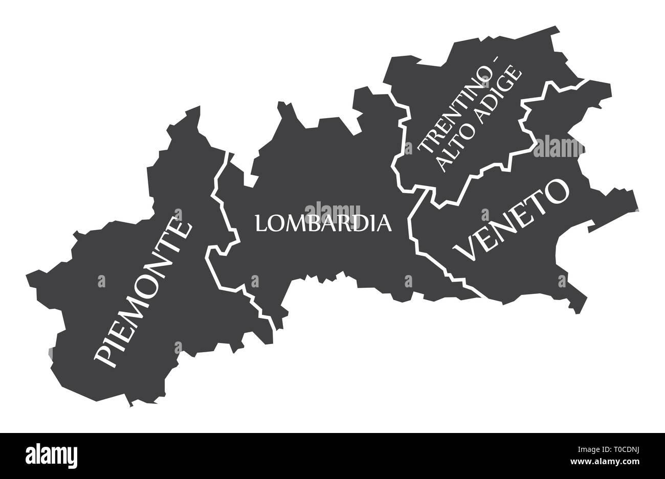 Piemonte Lombardia Trentino Alto Adige Veneto Region