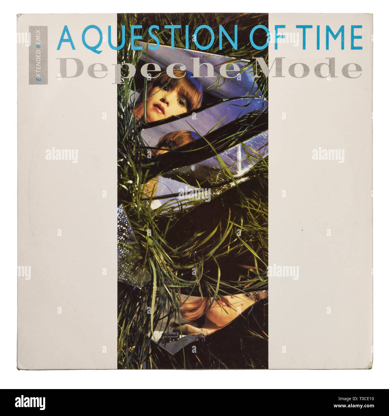 The vinyl 12 inch single sleeve for A Question of Time by Depeche Mode - Stock Image