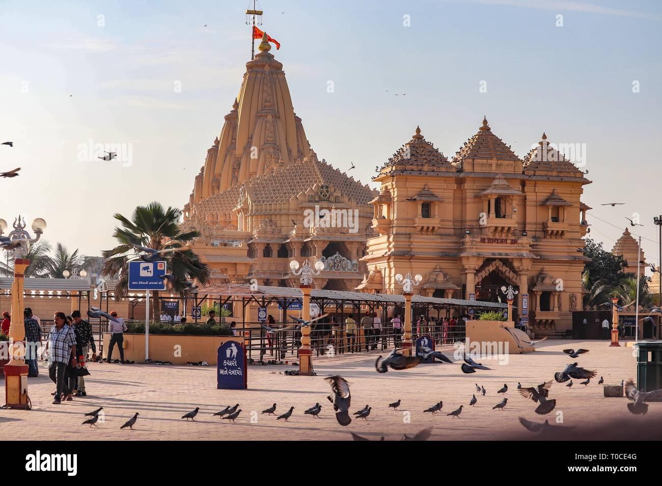 Somnath temple/Gujarat/India - Stock Image