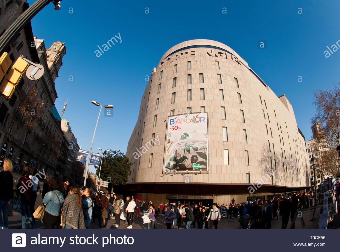 Facade el corte ingles shopping stock photos facade el - El corte ingles plaza cataluna barcelona ...