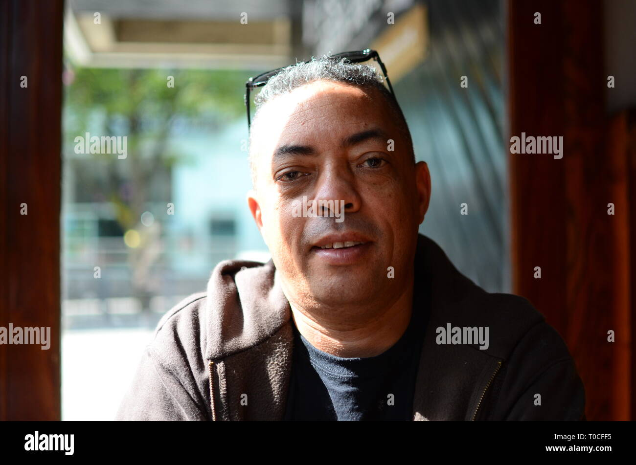 mixed race middle aged man, equality and diversity - Stock Image