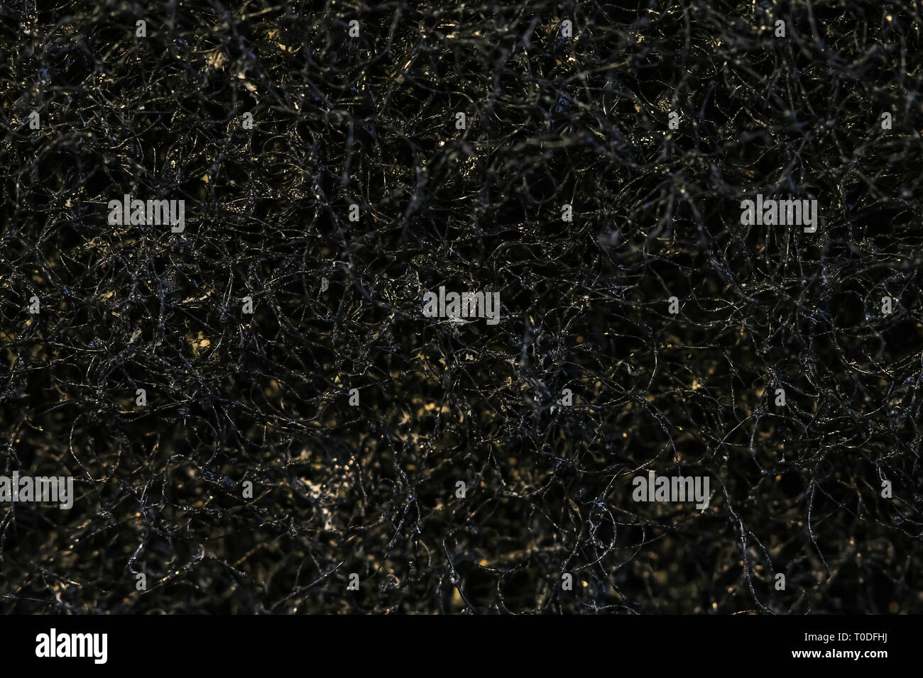 plastic sponge wash up background - Stock Image