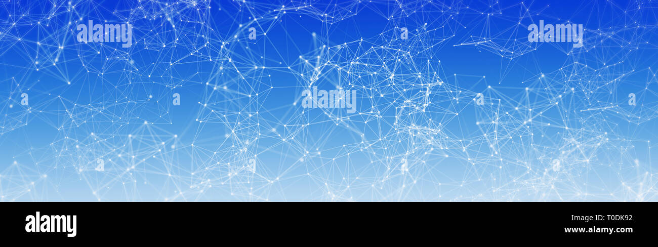 Polygon, Plexus Design Stock Photo