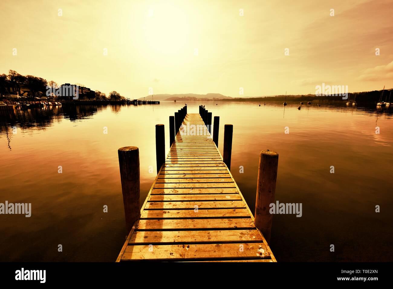 Waterhead,Ambleside,Lake Windermere,Lake District,Cumbria,England,UK Stock Photo