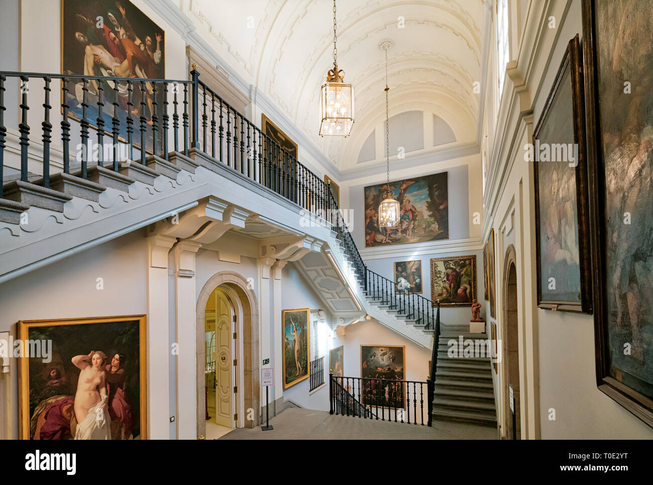 Museo Real Academia de Bellas Artes de San Fernando, Madrid, Museum Royal Academy of Fine Arts of San Fernando interior. Stock Photo