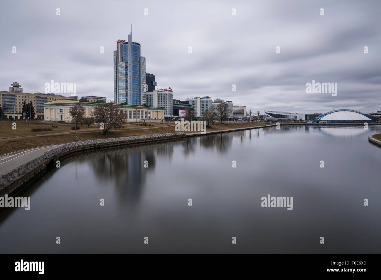 Skyline of Minsk - Stock Image
