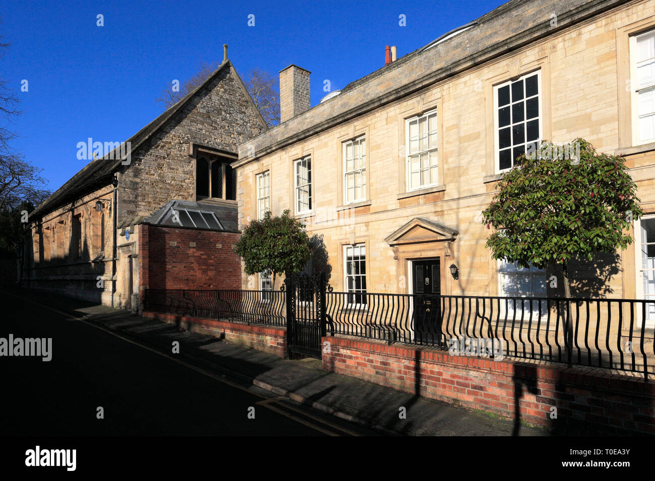 The Kings school hall, Castlegate, Grantham town, Lincolnshire, England; UK - Stock Image