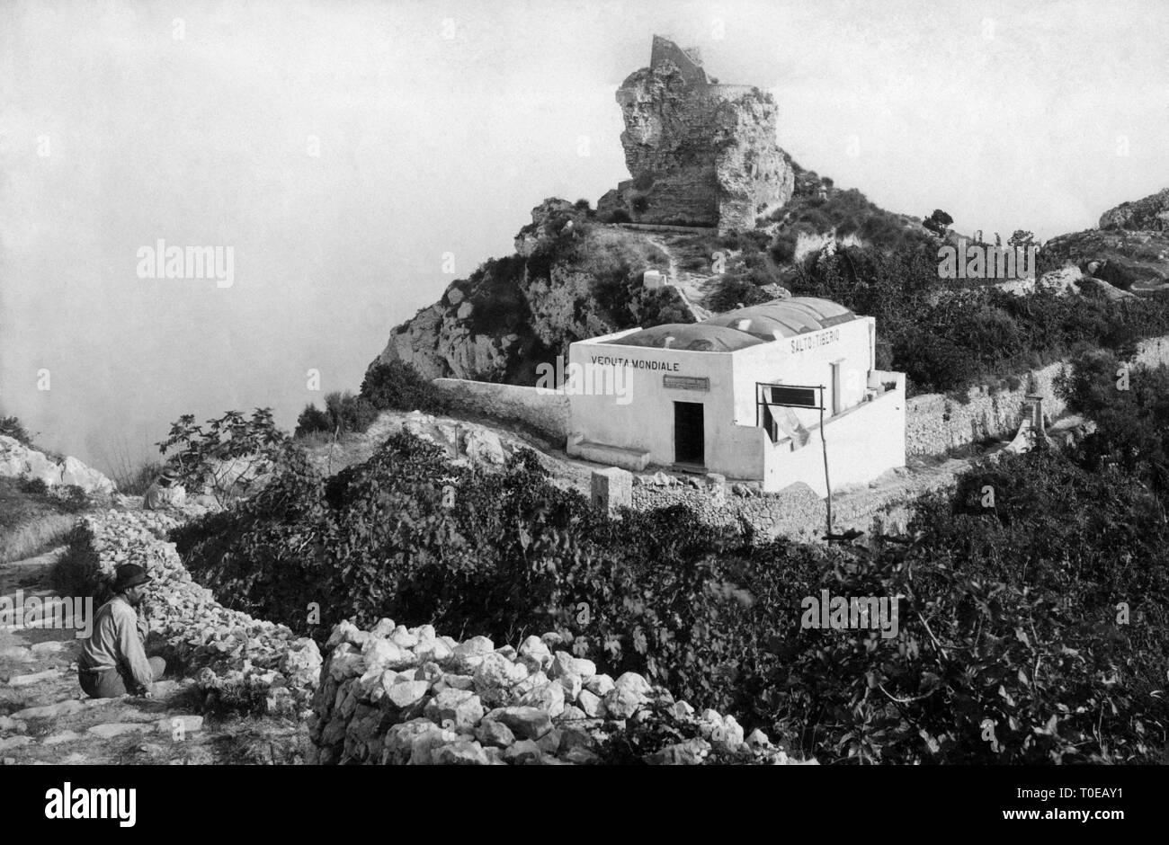salto di tiberio, capri island, campania, italy 1910-20 Stock Photo