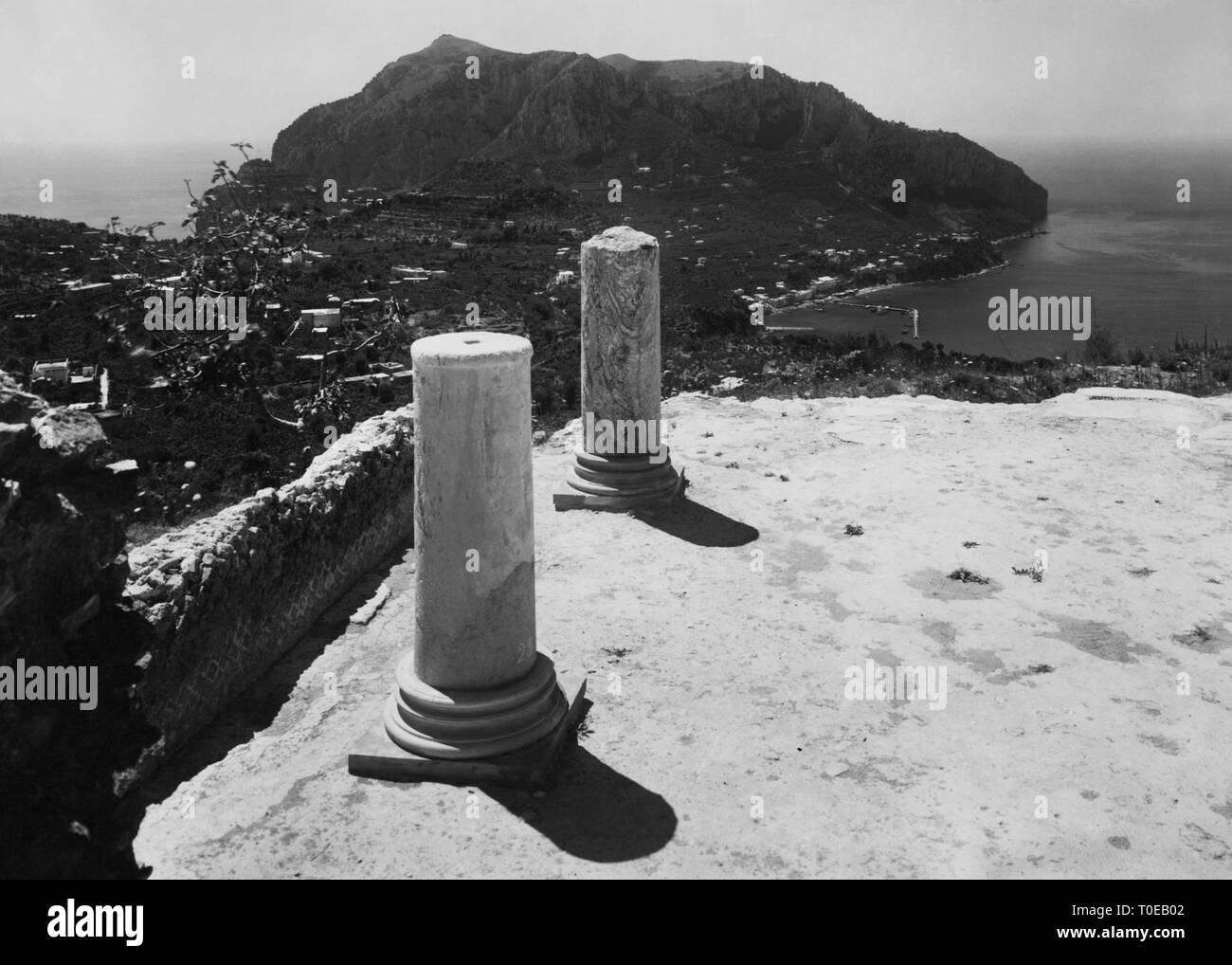 villa jovis, monte tiberio, capri island, campania, italy 1930-40 Stock Photo