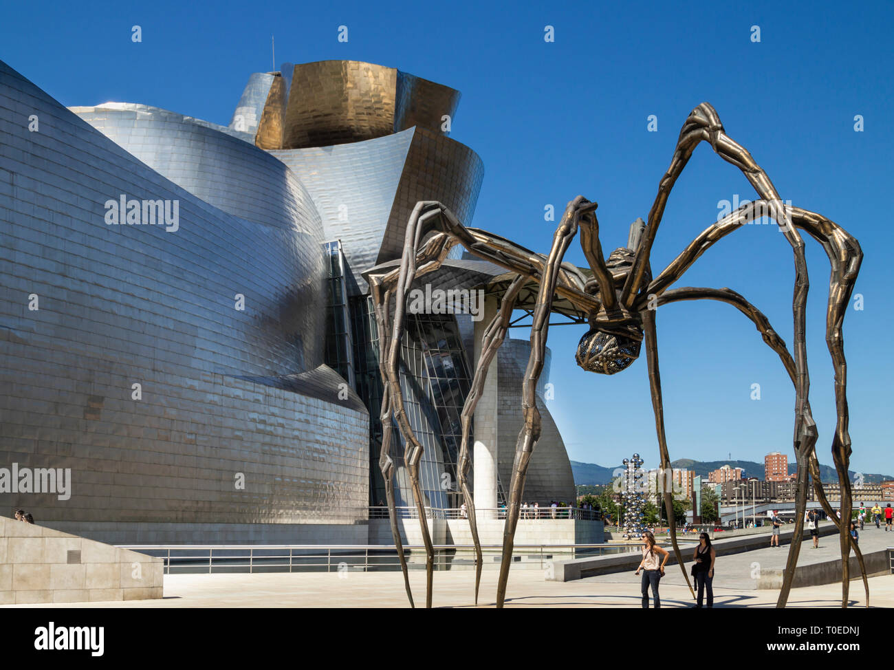 Spider sculpture 'Maman' by Louise Bourgeois outside Guggenheim museum in Bilbao, Spain. Stock Photo