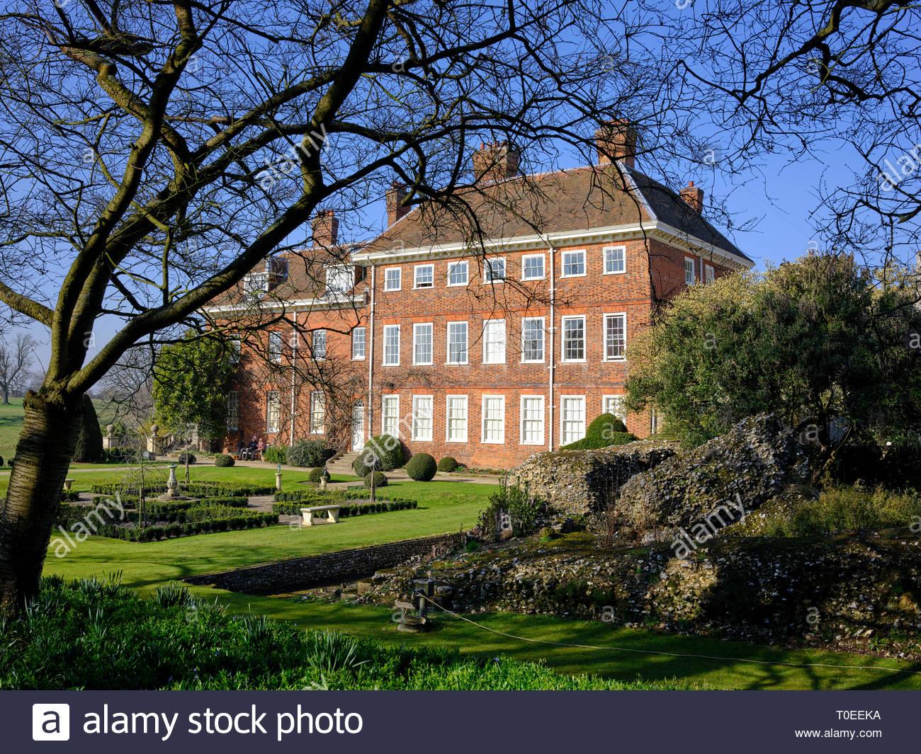 Historic Manor House at Benington Lordship Gardens, Hertfordshire - Stock Image