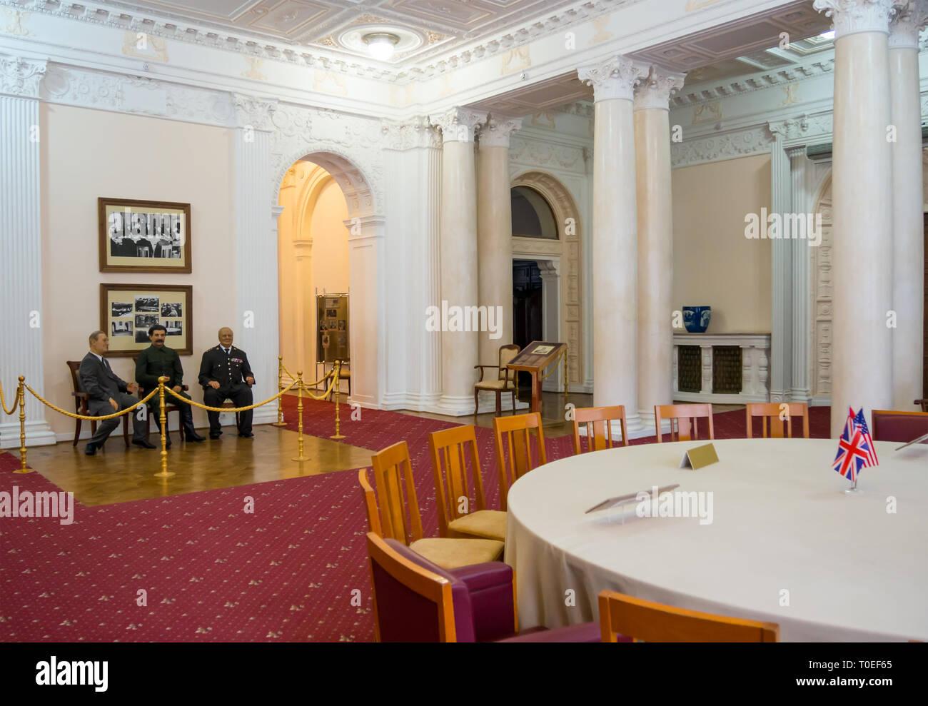 Yalta, Russia, November 10, 2015: The interior of the lobby, Livadia Palace, Yalta, Crimea - Stock Image