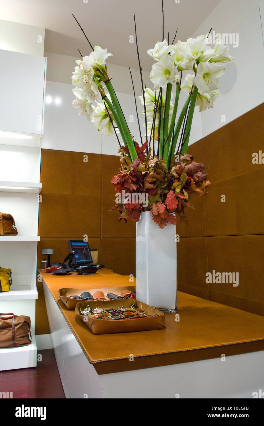 A flower display in Bill Amberg - Stock Image