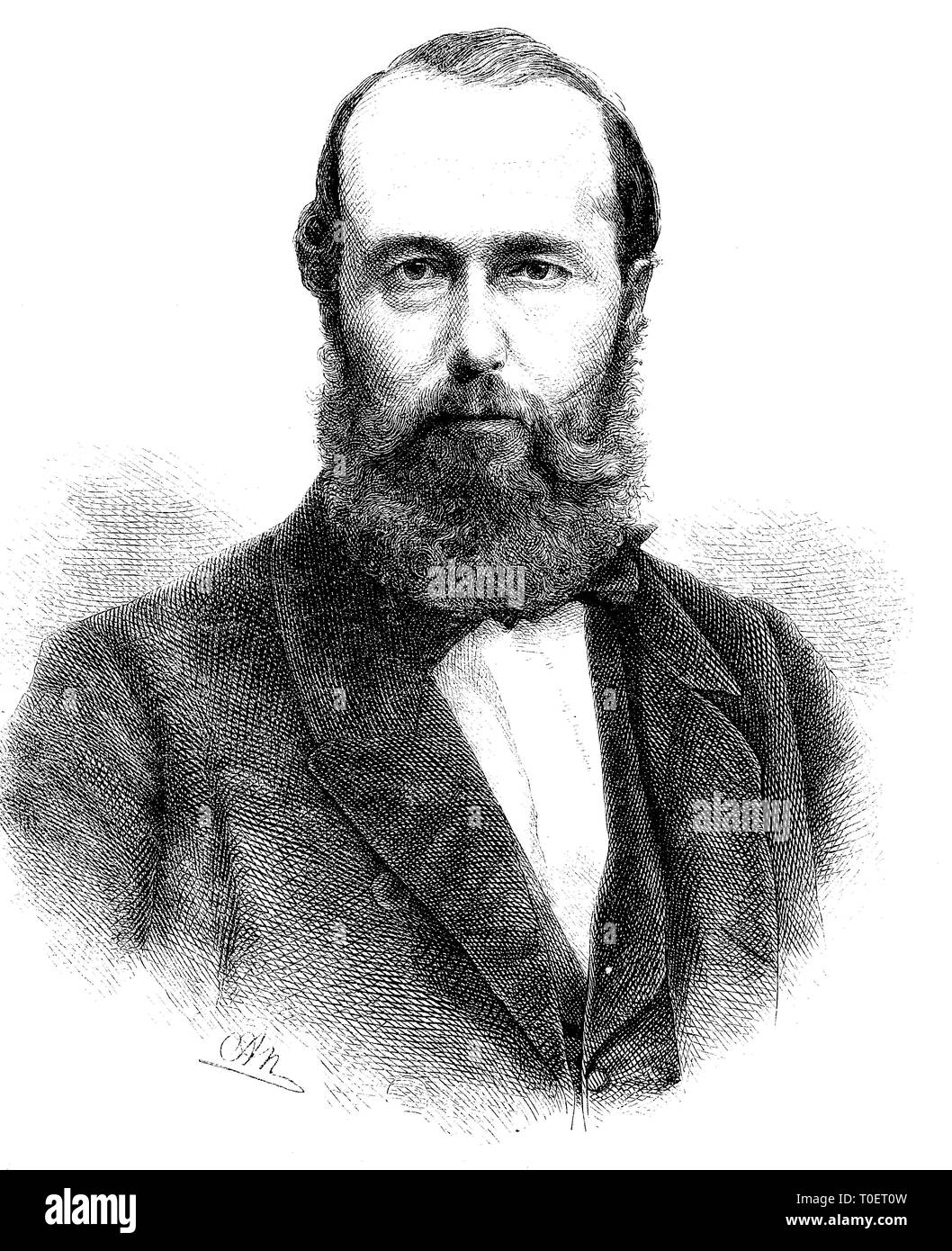 Rudolf von Bennigsen, born 1824, died 7 August 1902, German politicia; Germany  /  Rudolf von Bennigsen, geboren 1824, gestorben 1902, liberaler deutscher Politiker, Deutschland Stock Photo