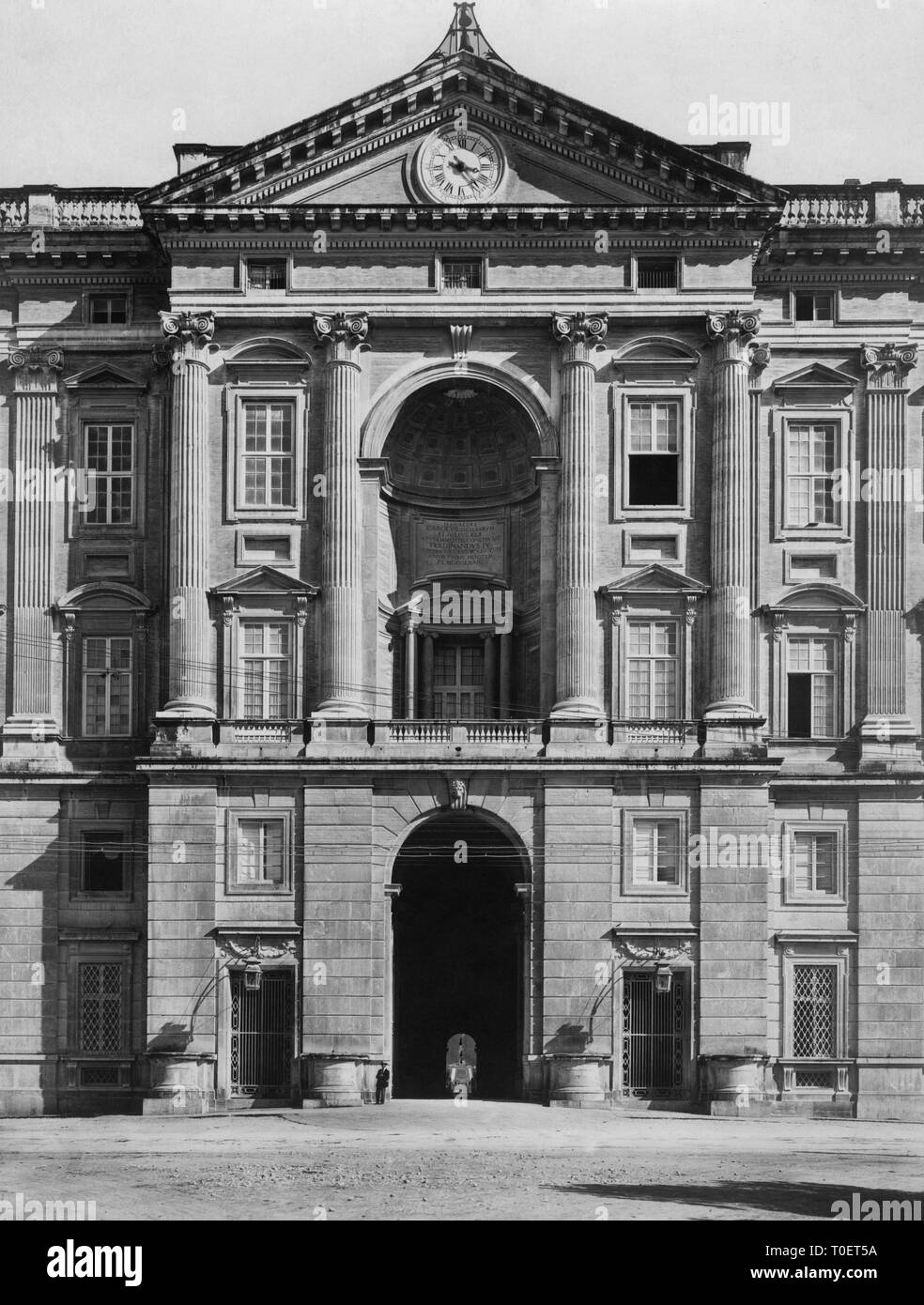 entrance, Royal Palace of Caserta, caserta, campania, italy 1910 Stock Photo