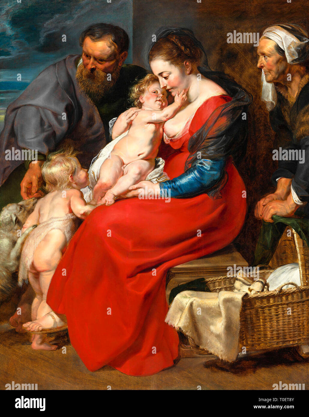 Peter Paul Rubens, The Holy Family with Saints Elizabeth and John the Baptist, painting, c. 1610–1620 - Stock Image