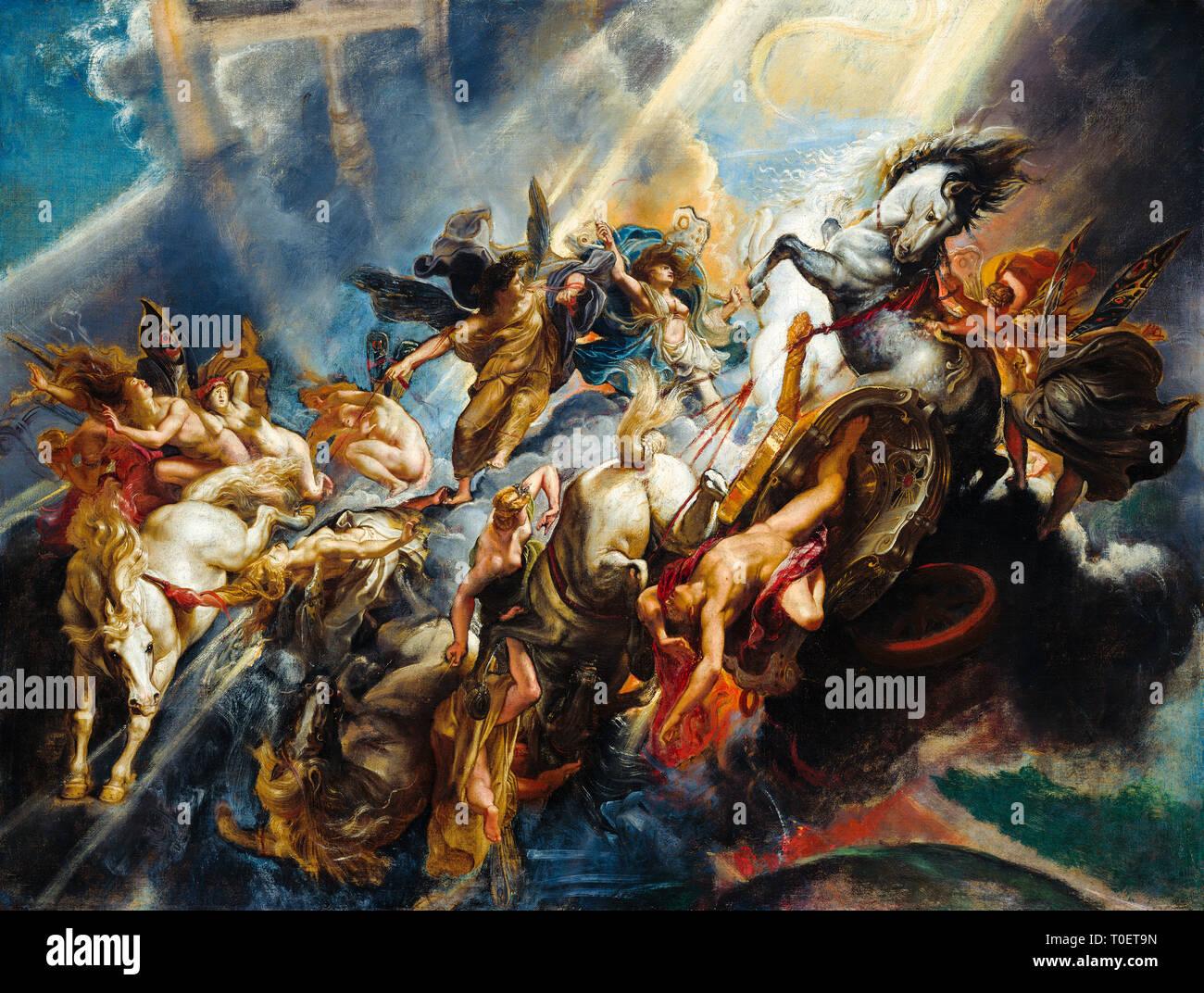 Sir Peter Paul Rubens, The Fall of Phaeton, painting, c. 1604-1605 - Stock Image