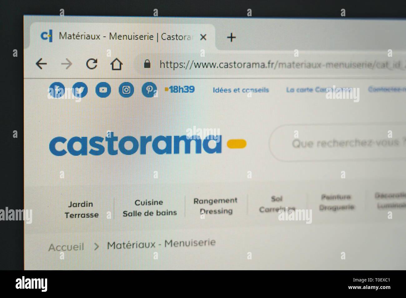 castorama website screenshot - Stock Image