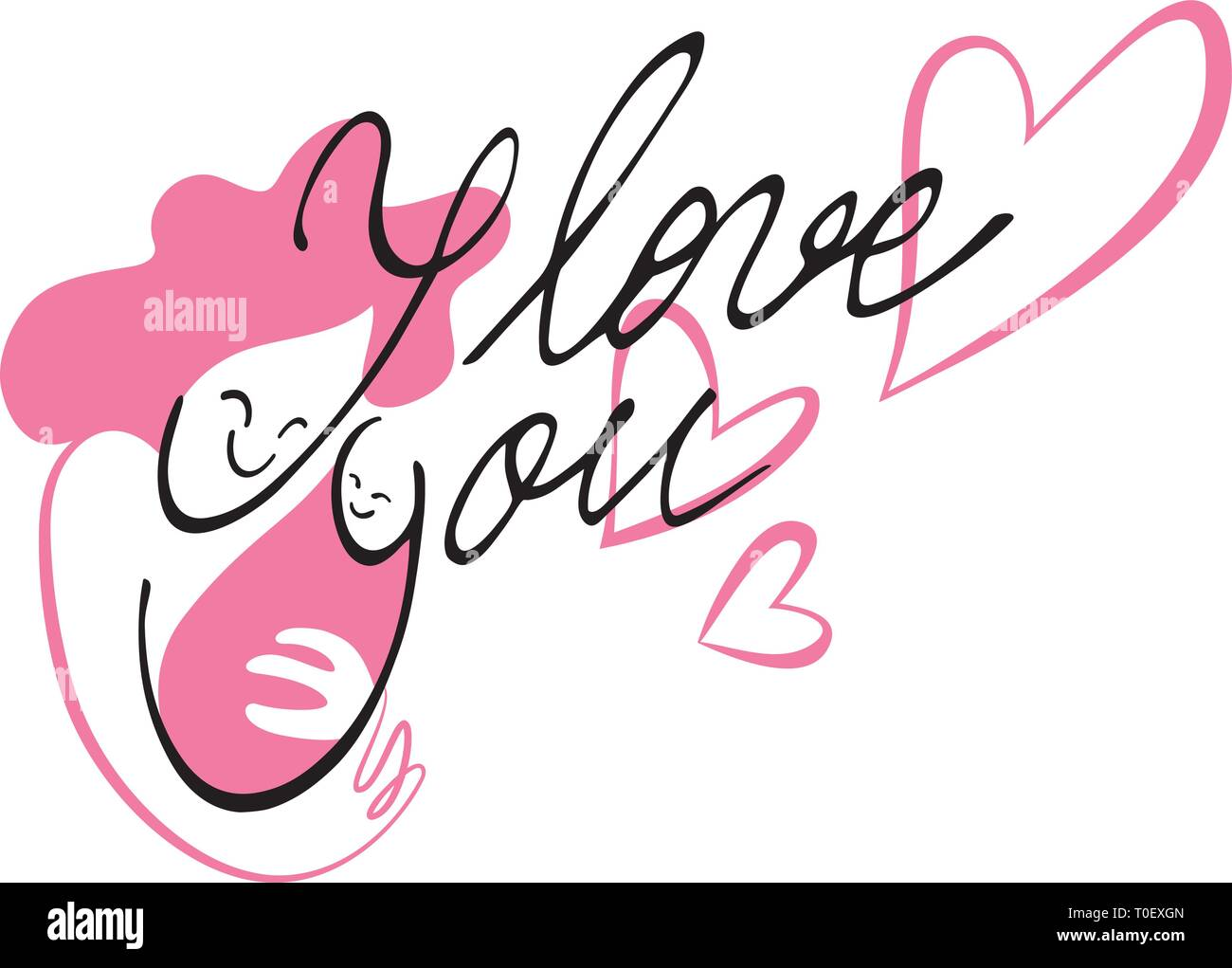 Handwriting and illustration combined into one cute layout. - Stock Vector
