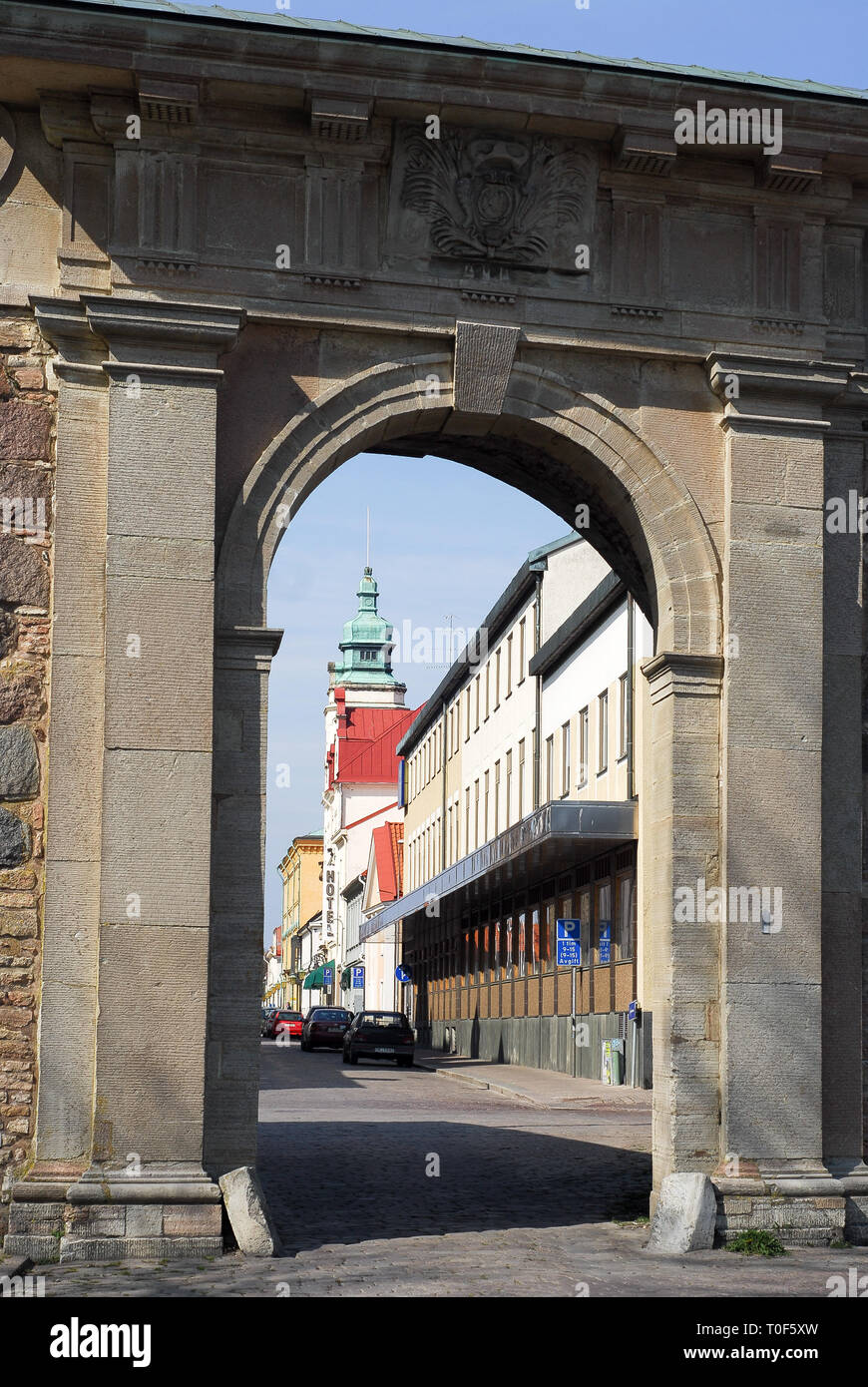 Historic centre of Kalmar, Kalmar County, Sweden. April 11th 2008 © Wojciech Strozyk / Alamy Stock Photo - Stock Image