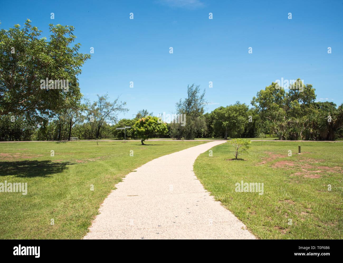 with path at the Casuarina Coastal Reserve public park in Casuarina, Australia - Stock Image