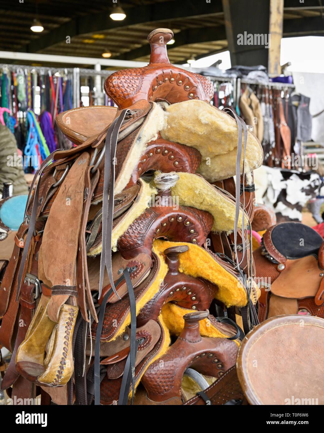 Western Saddles Stock Photos & Western Saddles Stock Images