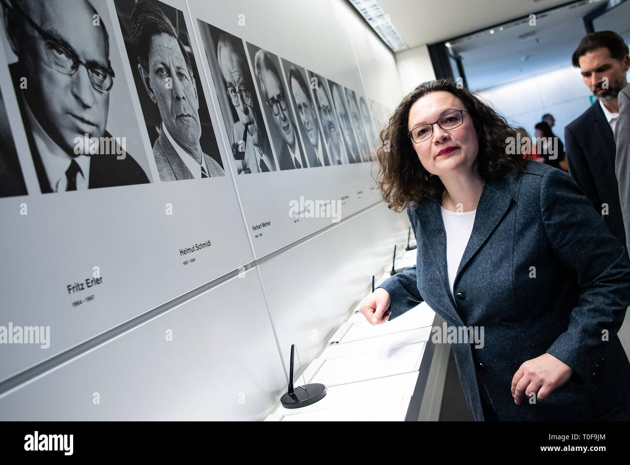 Berlin, Germany  19th Mar, 2019  Andrea Nahles, chairwoman