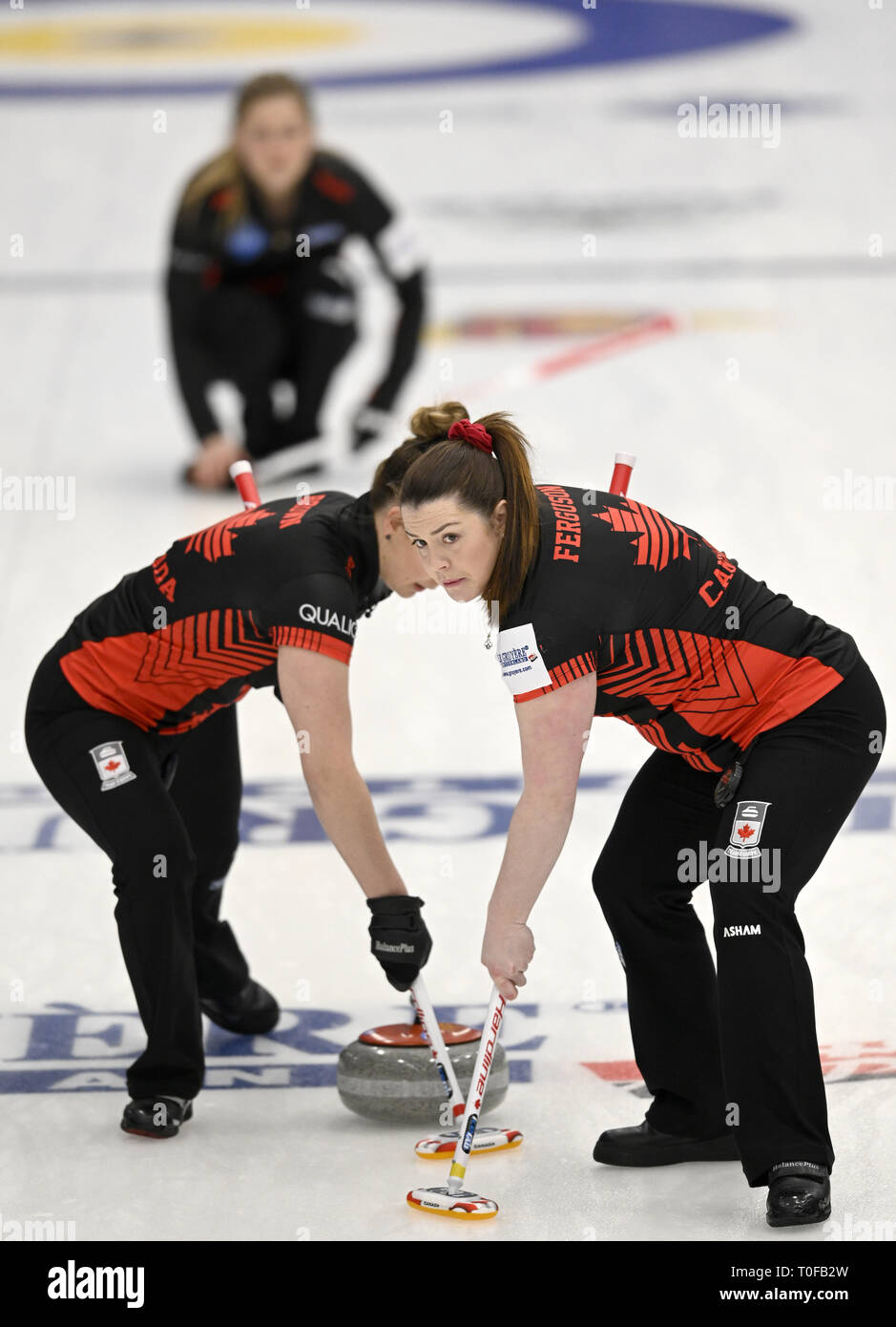 Silkeborg, Denmark  19th Mar, 2019  Team Canada in action