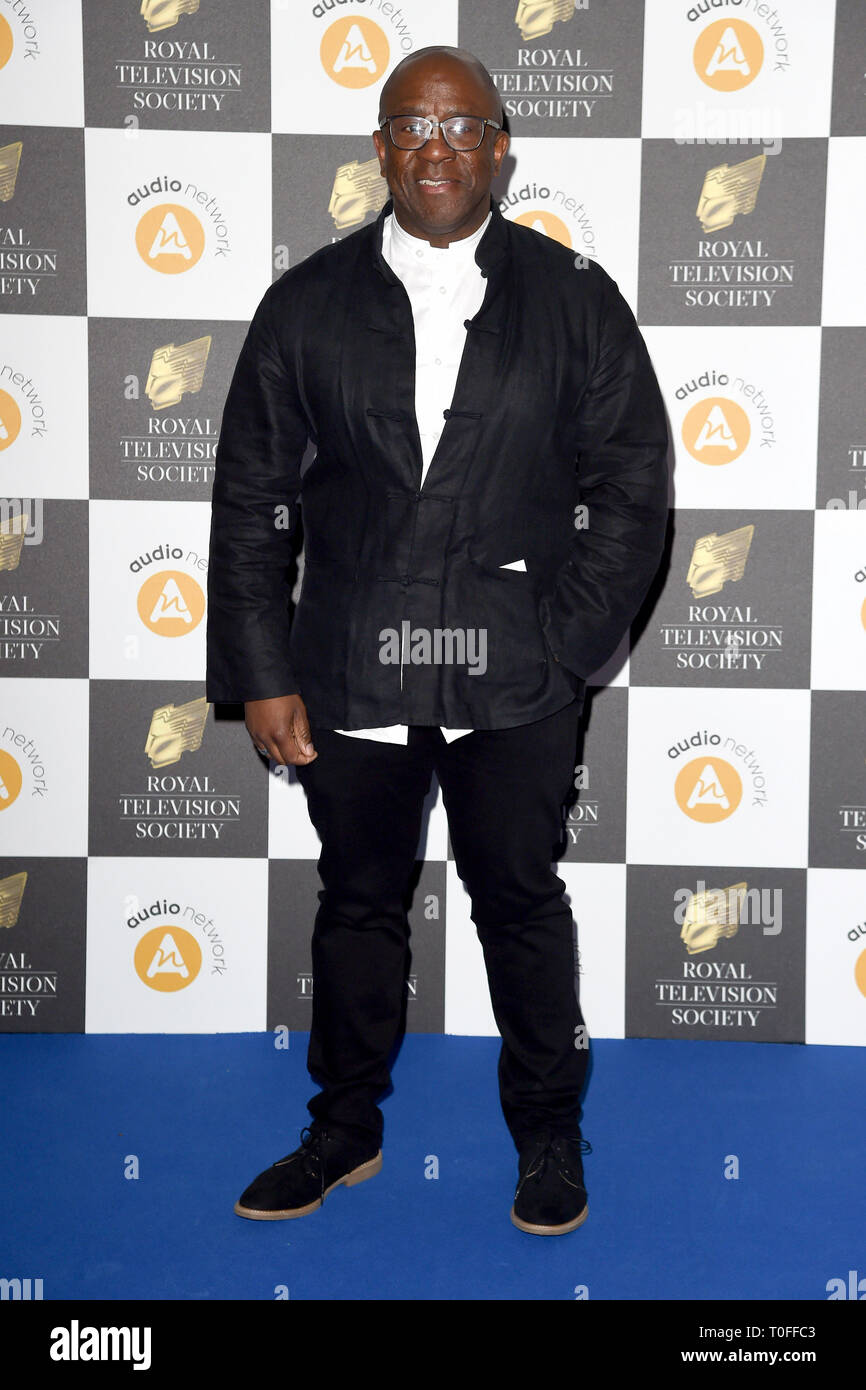 LONDON, UK. March 19, 2019: Lucian Msamati arriving for the Royal Television Society Awards 2019 at the Grosvenor House Hotel, London. Picture: Steve Vas/Featureflash Credit: Paul Smith/Alamy Live News Stock Photo